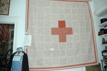 WWI quilt with soldiers names